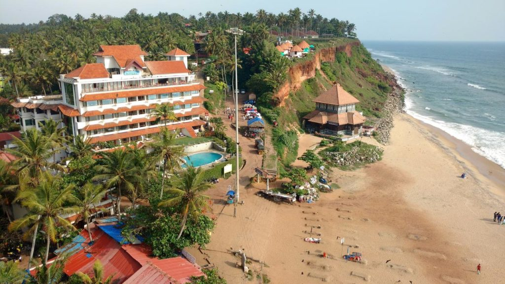 Hindustan varkala beach resort with swimming pool