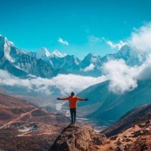 Trekking the Mt.Everest.